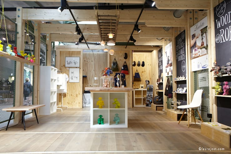 Offices & stores by Lieselotte, Rustic Porcelain
