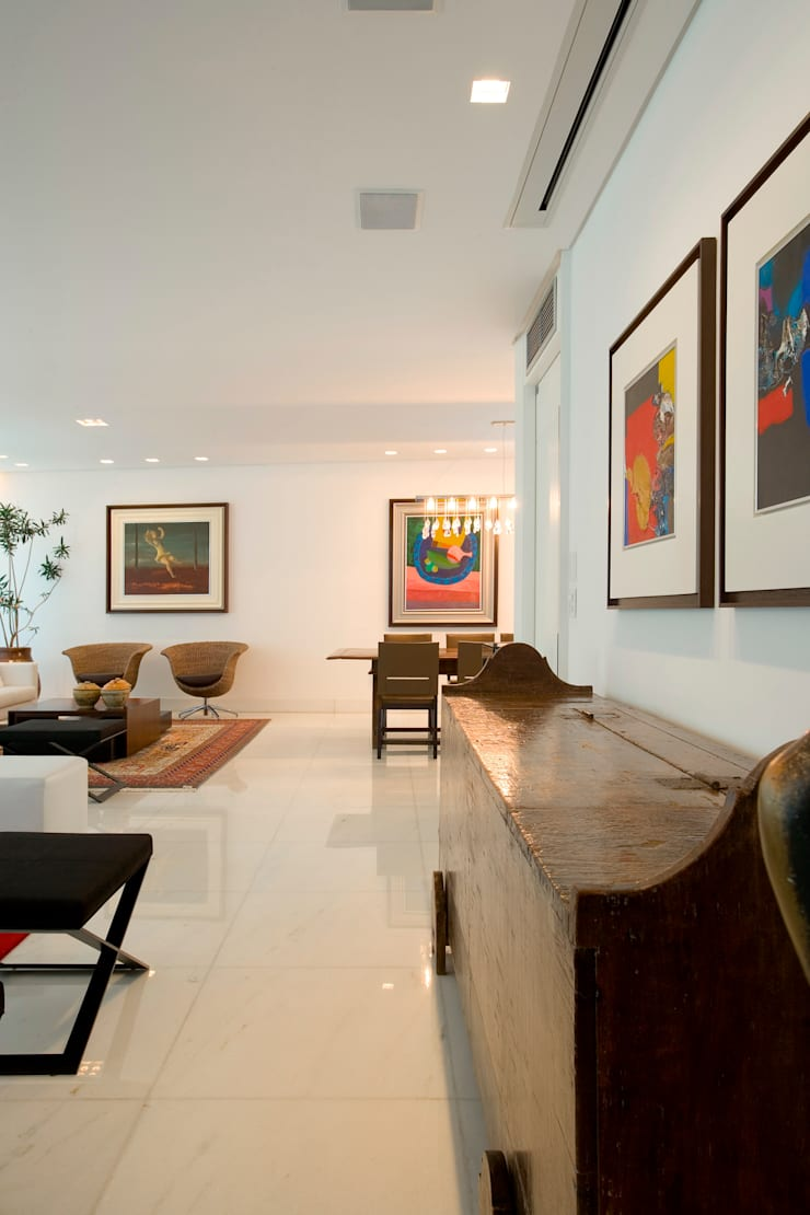Apartamento Lourdes: Salas de estar  por Viviane Lima Arquitetura ,Moderno