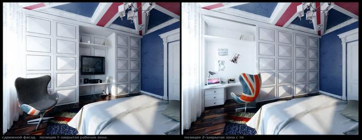 Квартира на Оболонской набережной Киева: Детские комнаты в . Автор – 27Unit design buro