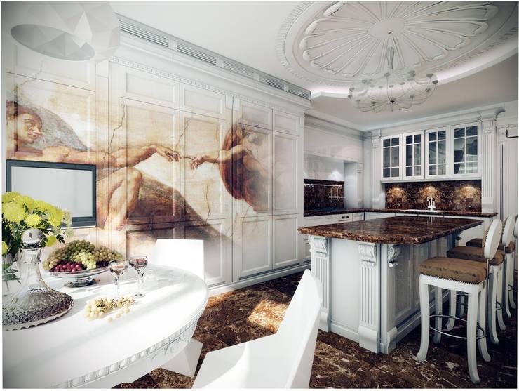 Квартира на Оболонской набережной Киева: Кухни в . Автор – 27Unit design buro