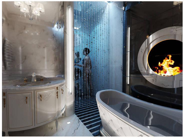 Квартира на Оболонской набережной Киева: Ванные комнаты в . Автор – 27Unit design buro