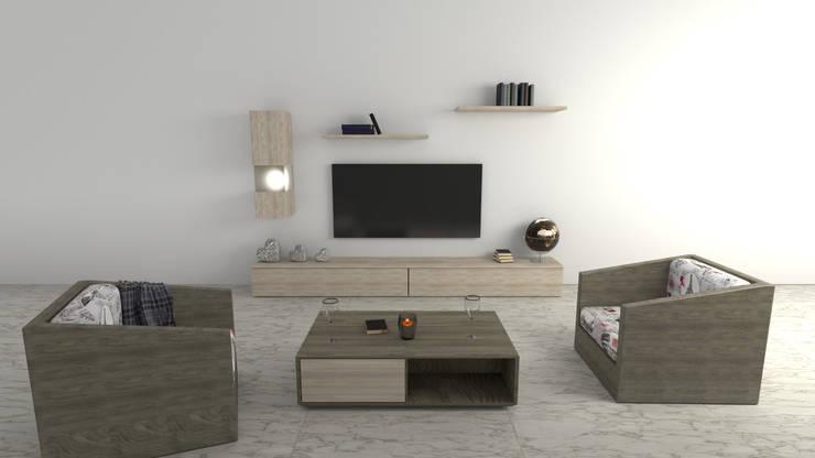 Sala Zono: Salas de estilo  por Zono Interieur