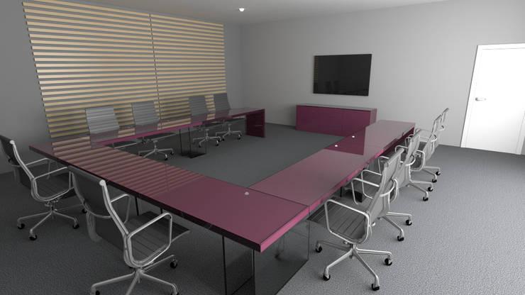Sala de juntas: Oficinas y tiendas de estilo  por Zono Interieur
