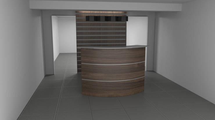 Muebles de recepción: Oficinas y tiendas de estilo  por Zono Interieur