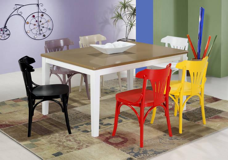 Cadeira Opzione (diversas cores): Sala de jantar  por Sun House Móveis e Decorações