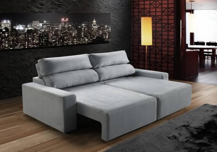 Living room تنفيذ Sun House Móveis e Decorações