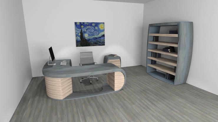 Diseño de oficinas: Oficinas y tiendas de estilo  por Zono Interieur