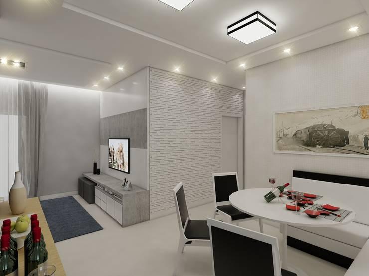 Apartamento AG: Salas de jantar  por Merlincon Prestes Arquitetura,Moderno