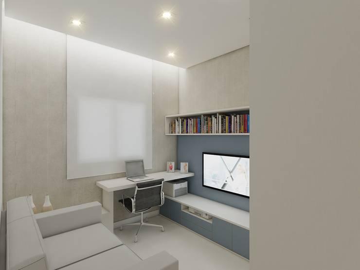 Apartamento AG: Escritórios  por Merlincon Prestes Arquitetura,Moderno
