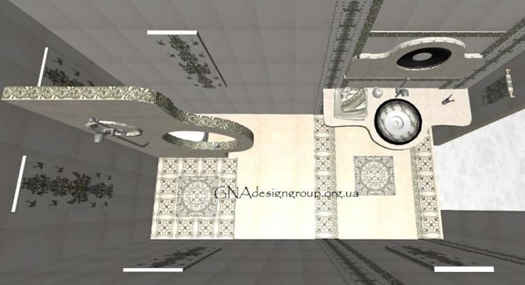 Ванные комнаты в . Автор – GNAdesigngroup