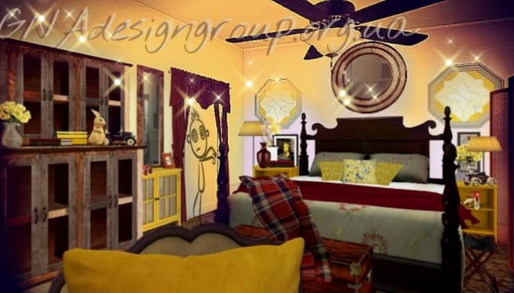 Спальни в . Автор – GNAdesigngroup