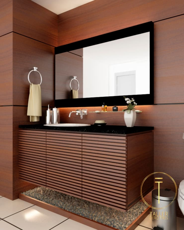 Kamar Mandi Modern Oleh Taller 03 Modern Kayu Wood effect