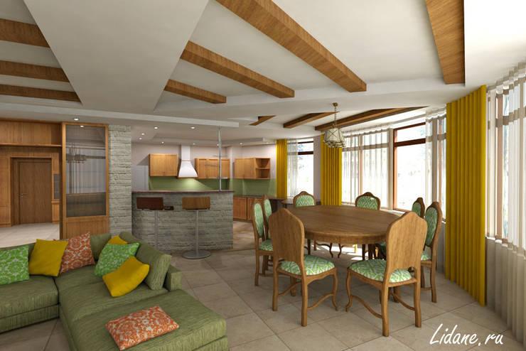 Гостиная в частном коттедже. Сочи: Столовые комнаты в . Автор – Lidiya Goncharuk