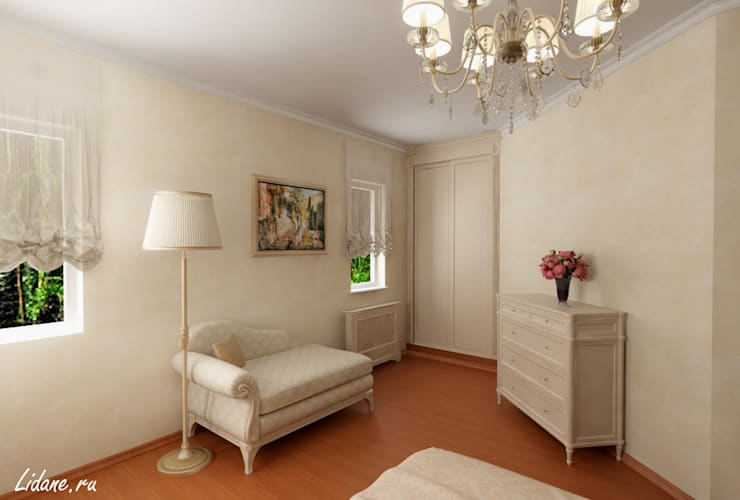 Спальня в частном коттедже. Сочи: Спальни в . Автор – Lidiya Goncharuk