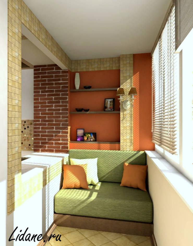 Гостиная зона в двухкомнатной квартире. Москва: Tерраса в . Автор – Lidiya Goncharuk