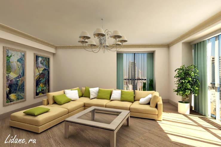 Летние апартаменты. Сочи: Гостиная в . Автор – Lidiya Goncharuk