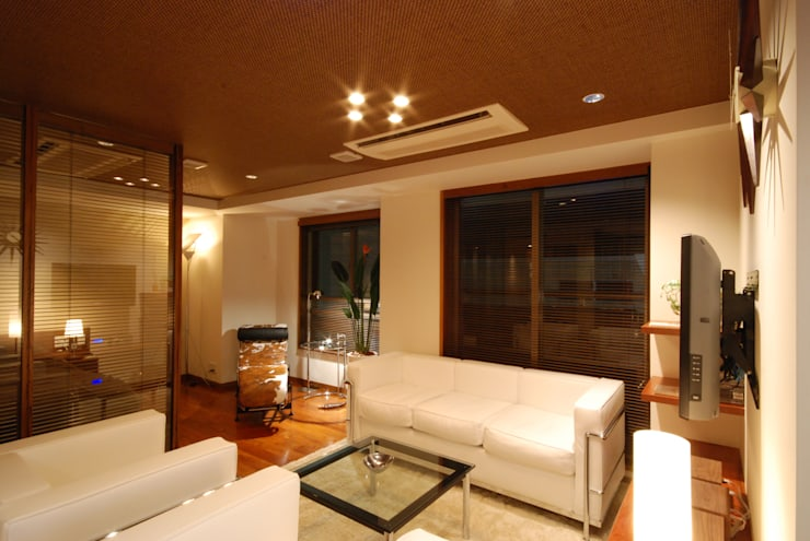 リビング: 株式会社 中村建築設計事務所が手掛けたです。