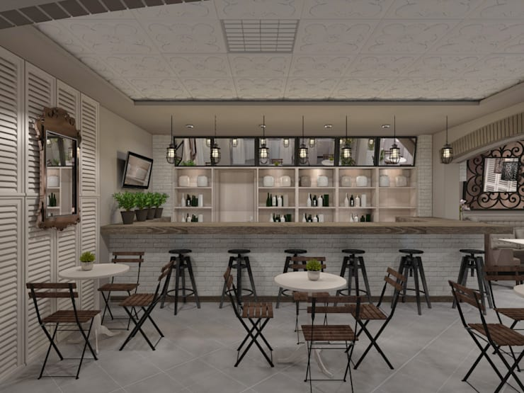 Cafe and restaurant design: Бары и клубы в . Автор – Дизайн-студия HOLZLAB