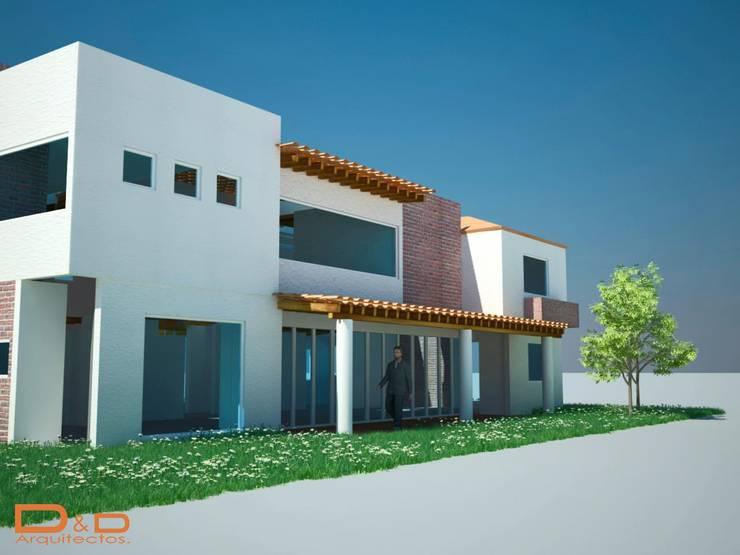 Proyectos y Espacios: Casas de estilo  por D&D Arquitectos
