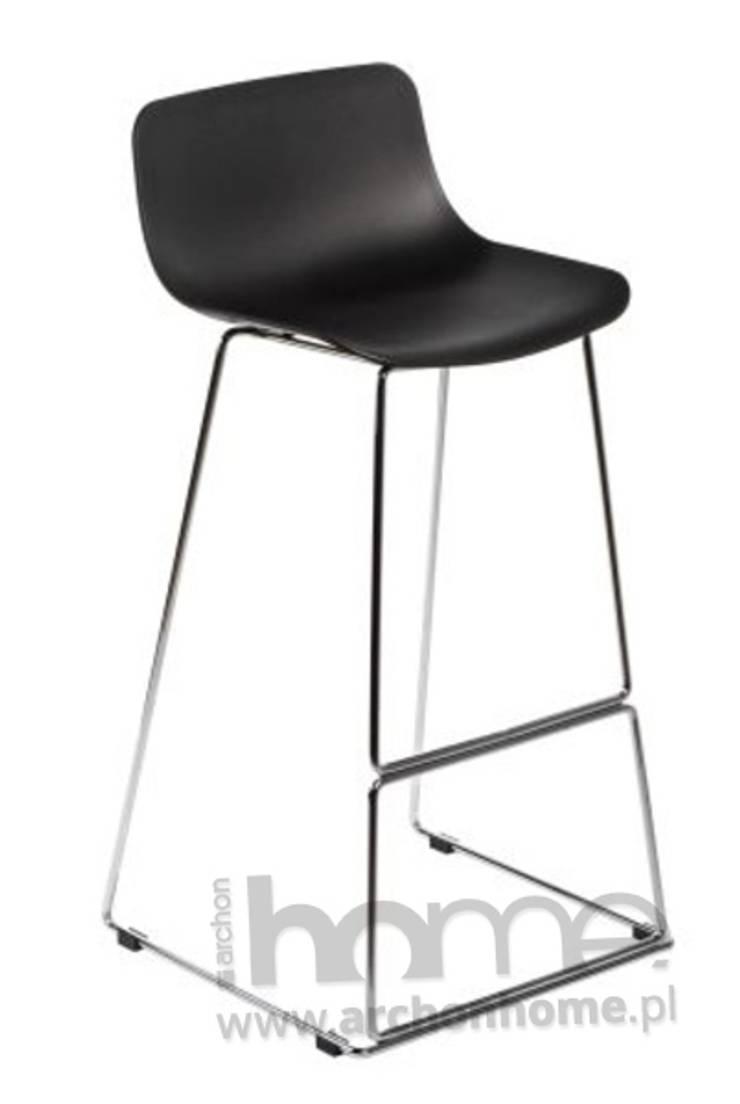 Stołek barowy Deli czarny: styl , w kategorii  zaprojektowany przez ArchonHome.pl,Nowoczesny