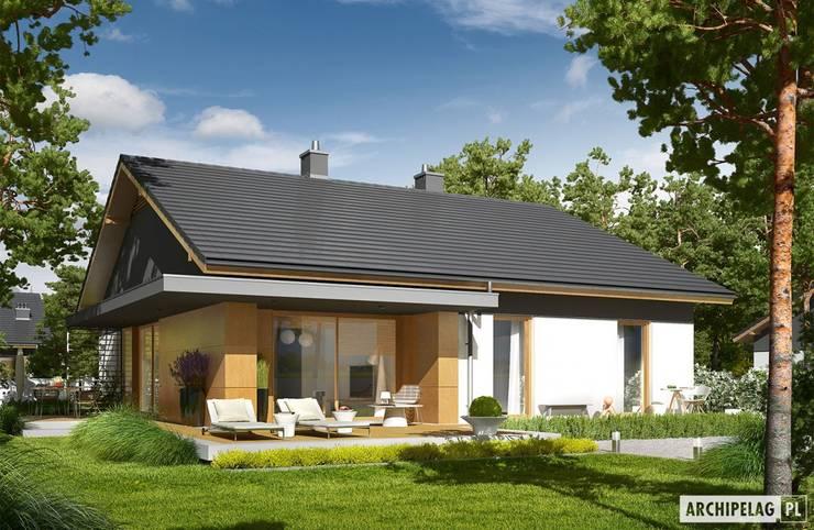 Projekt domu Iwo G1 : styl , w kategorii Domy zaprojektowany przez Pracownia Projektowa ARCHIPELAG