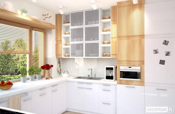 Projekt domu Iwo G1 | kuchnia : styl , w kategorii Kuchnia zaprojektowany przez Pracownia Projektowa ARCHIPELAG