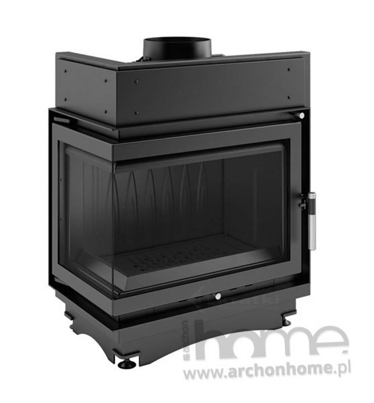 Kominek Maja lewy bez szprosa 12 kW: styl , w kategorii Salon zaprojektowany przez ArchonHome.pl