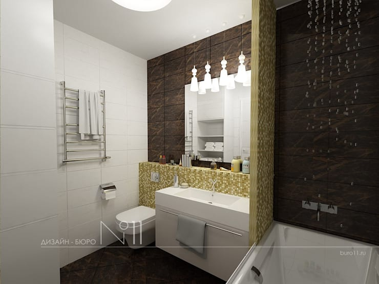 Квартира-студия в современном стиле: Ванные комнаты в . Автор – Дизайн-бюро № 11,