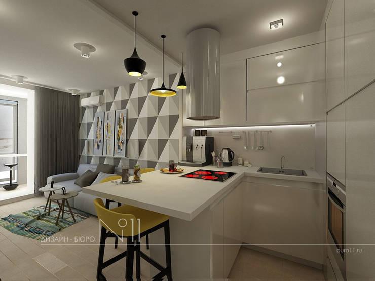 Квартира-студия в современном стиле: Гостиная в . Автор – Дизайн-бюро № 11,