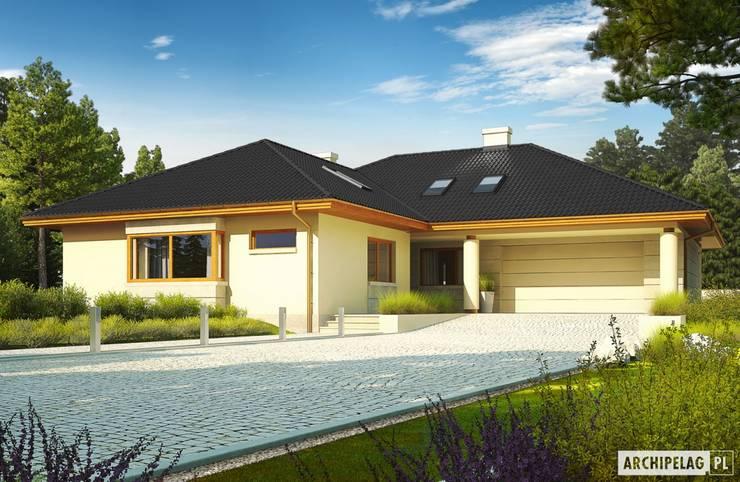 Projekt domu Alan IV G2: styl , w kategorii Domy zaprojektowany przez Pracownia Projektowa ARCHIPELAG