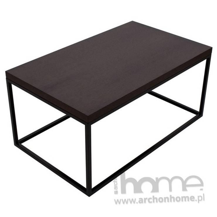 Stolik Qubik duży, czarny: styl , w kategorii Salon zaprojektowany przez ArchonHome.pl
