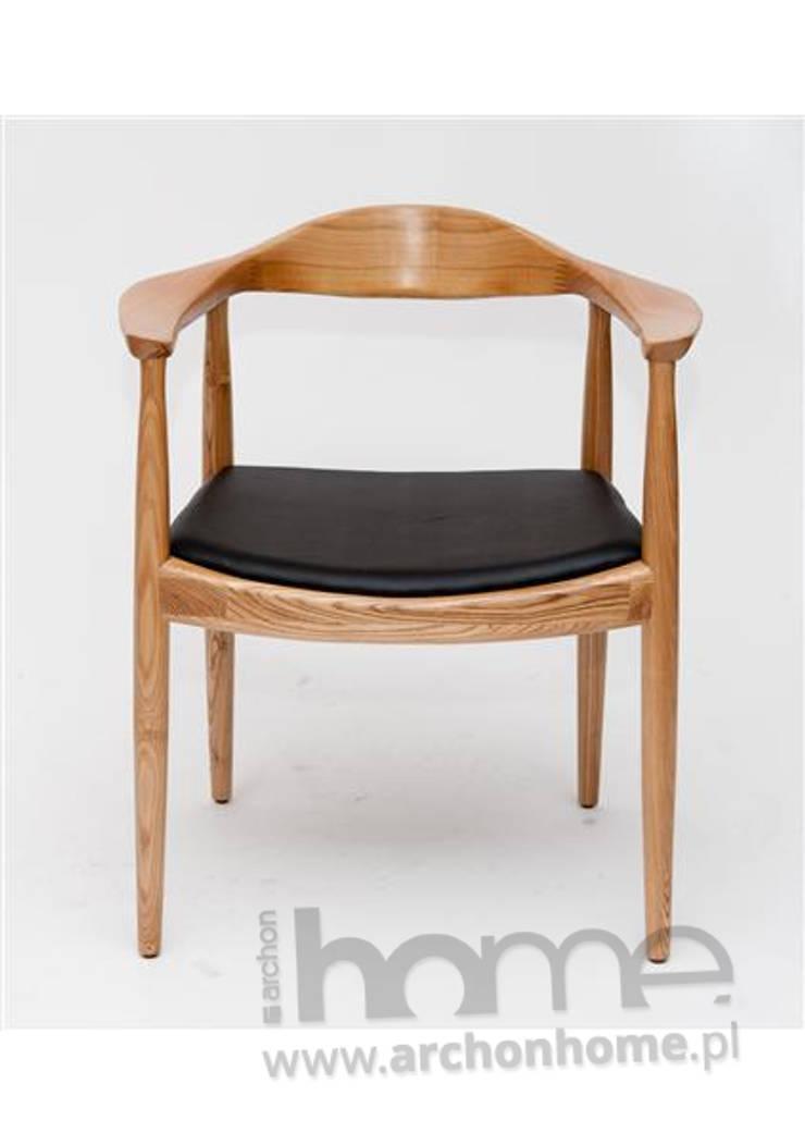 Krzesło President naturalne drewno - inspirowane Kennedy: styl , w kategorii Jadalnia zaprojektowany przez ArchonHome.pl
