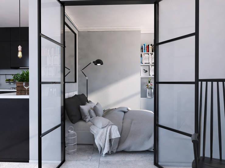 Mieszkanie Mysłowice: styl , w kategorii Sypialnia zaprojektowany przez FOORMA Pracownia Architektury Wnętrz,Klasyczny