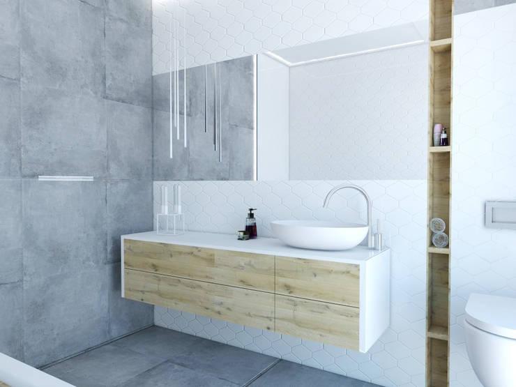 Łazienka: styl , w kategorii Łazienka zaprojektowany przez FOORMA Pracownia Architektury Wnętrz,Skandynawski