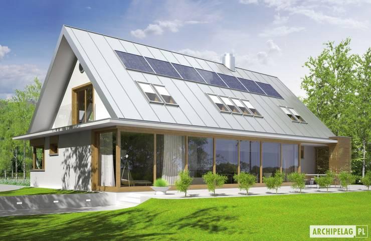 Projekt domu  EX 3 G1 : styl , w kategorii Domy zaprojektowany przez Pracownia Projektowa ARCHIPELAG,Nowoczesny