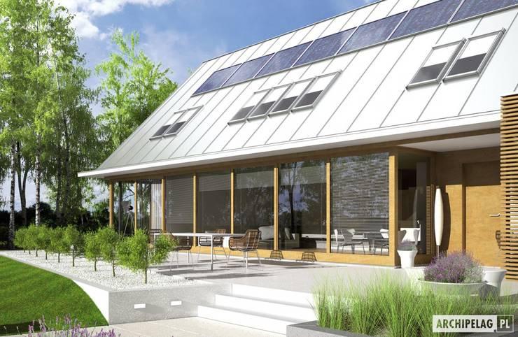 Projekt domu EX 3 G1 : styl , w kategorii Domy zaprojektowany przez Pracownia Projektowa ARCHIPELAG