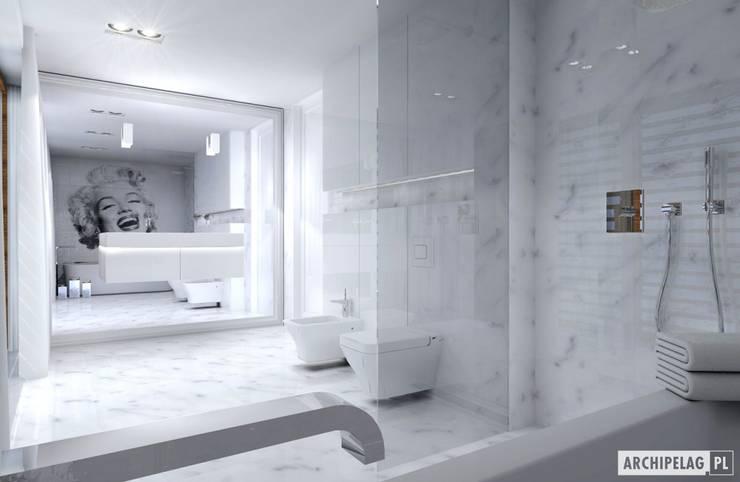 Projekt domu EX 3 G1 | łazienka: styl , w kategorii Łazienka zaprojektowany przez Pracownia Projektowa ARCHIPELAG