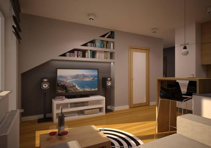 Mieszkanie Kamila: styl , w kategorii Salon zaprojektowany przez NowaConcept,Nowoczesny