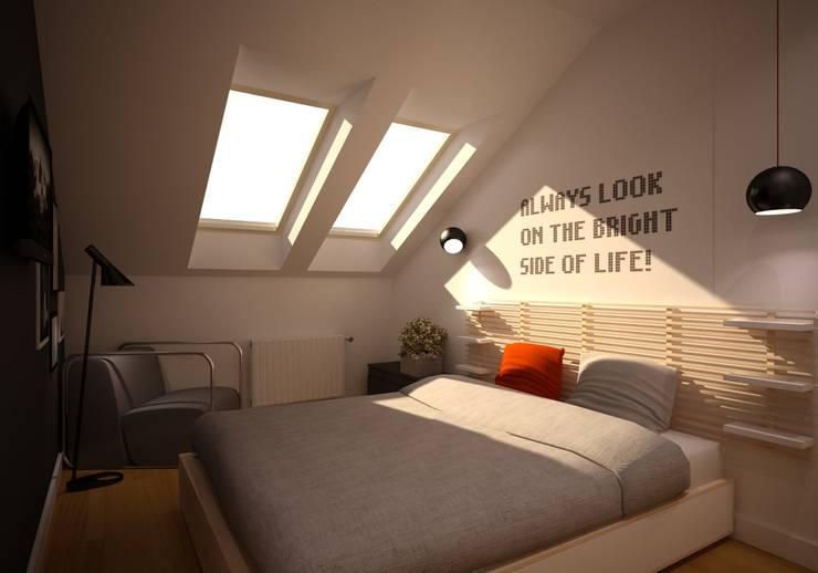 Mieszkanie Kamila: styl , w kategorii Sypialnia zaprojektowany przez NowaConcept,Nowoczesny