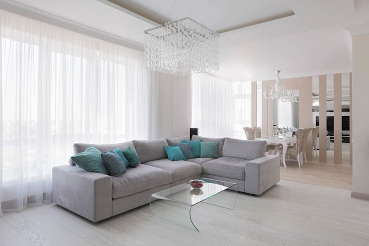 Projekty,  Salon zaprojektowane przez Мастерская дизайна