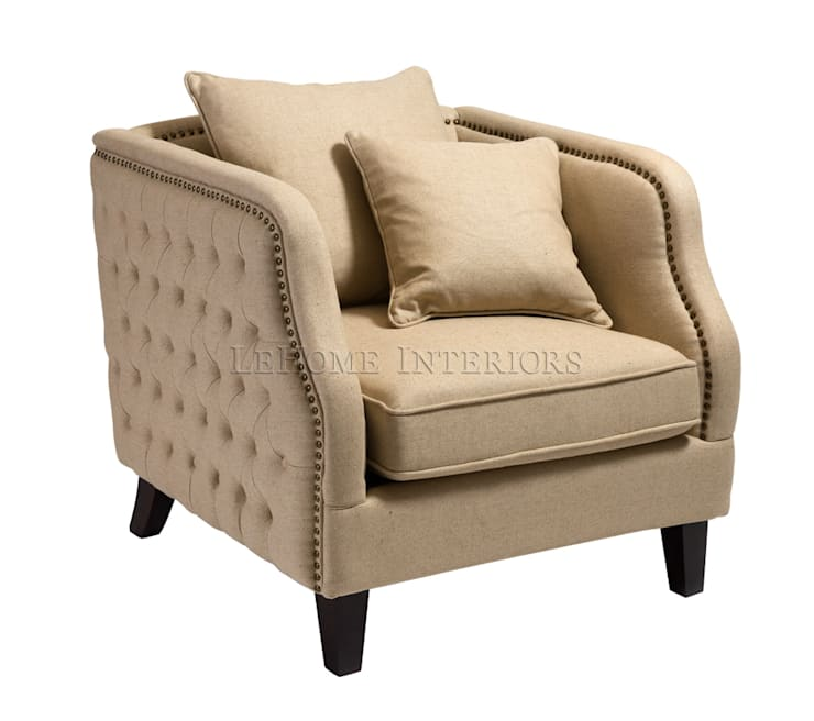 Кресло Lantier Armchair A115: Гостиная в . Автор – LeHome Interiors