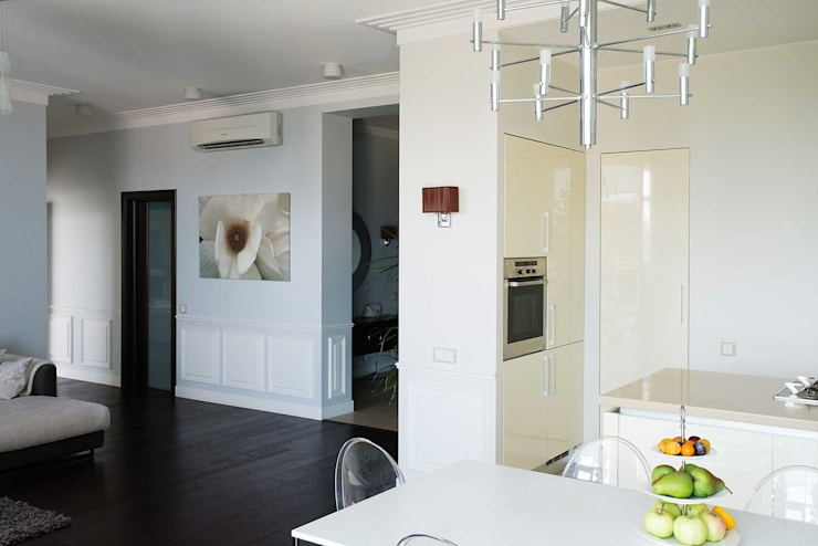Белая классика: Кухни в . Автор – Address