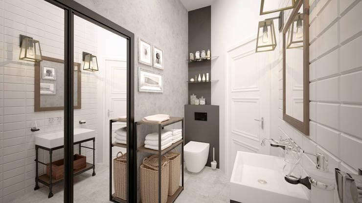 КРЕАТИВНЫЙ ЛОФТ -  дом талантливого режиссера: Ванные комнаты в . Автор – Loft&Home