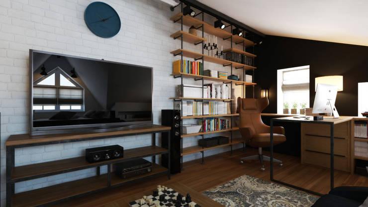 Dormitorios de estilo industrial de Loft&Home
