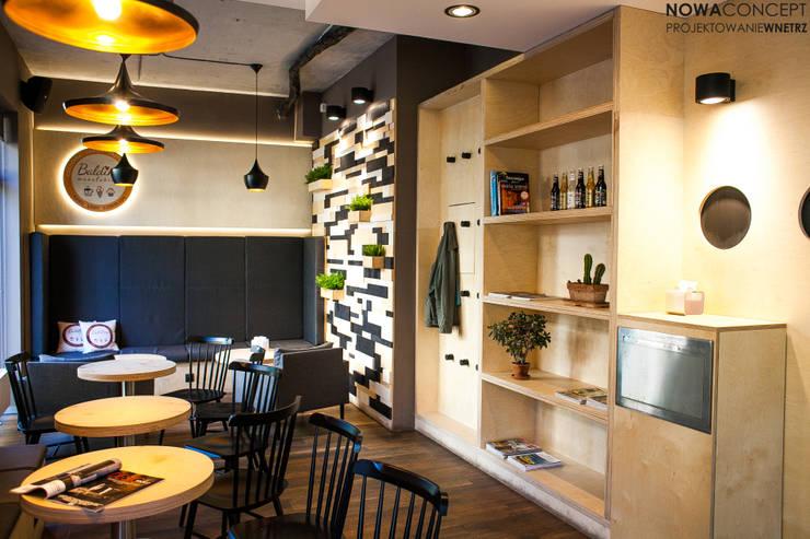 Lodziarnia Balduno Manufaktura: styl , w kategorii Gastronomia zaprojektowany przez NowaConcept