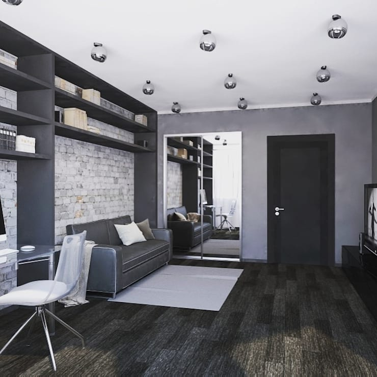 Квартира в стиле hi tech:  в . Автор – ООО Ремск