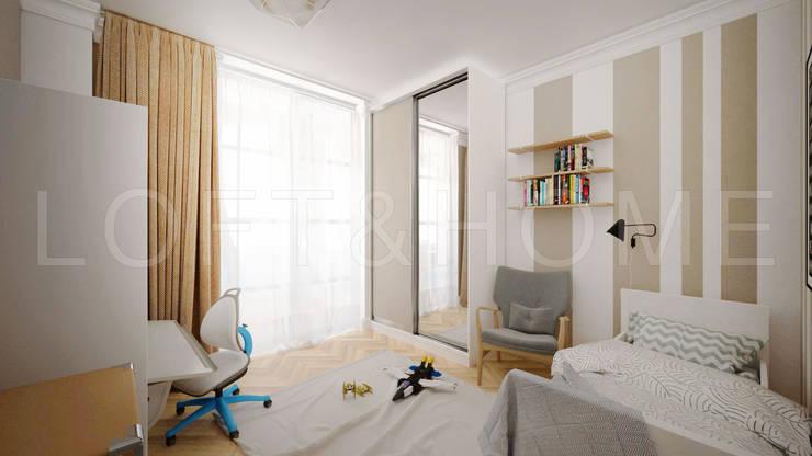 Квартира, Высоковольтный: Спальни в . Автор – Loft&Home