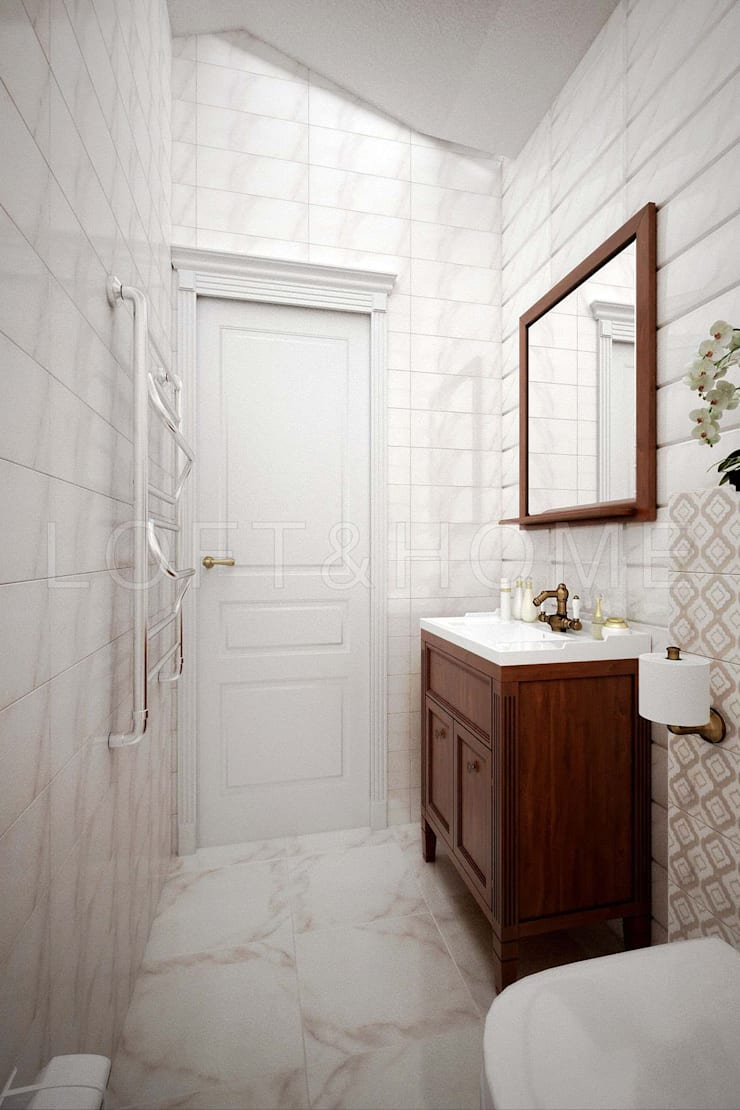 Дуплекс, КП Кембридж: Ванные комнаты в . Автор – Loft&Home