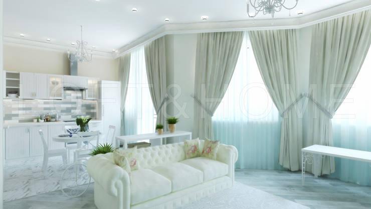 Квартира, ЖК Новорижский: Гостиная в . Автор – Loft&Home