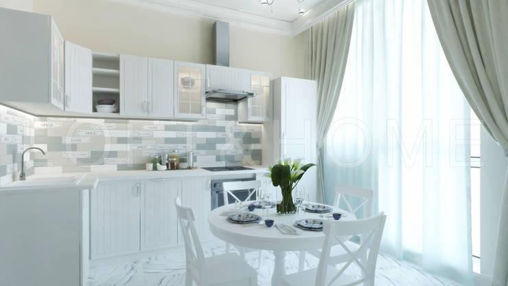Квартира, ЖК Новорижский: Кухни в . Автор – Loft&Home